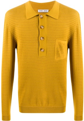 Cmmn Swdn Knitted Long Sleeve Polo Shirt