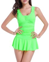 TopTie Ruffe One Piece Swimwear, Dress Stye
