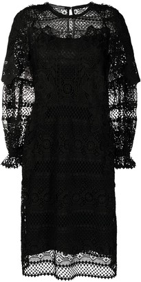 Alberta Ferretti Embroidered Long-Sleeved Dress