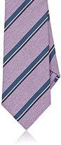 Brioni Men's Herringbone & Repp Necktie-LIGHT PURPLE