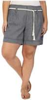 NYDJ Plus Size Plus Size Layla Shorts in Navy