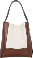Marni Canvas-Trimmed Leather Tote