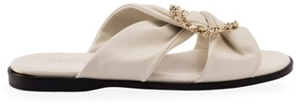 Jimmy Choo Neda Embellished Leather Slides
