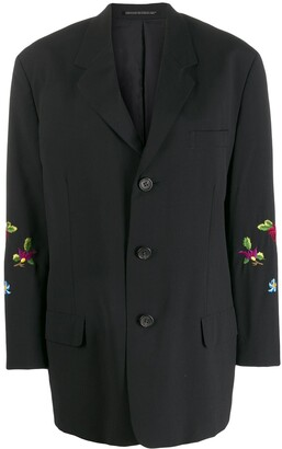 Yohji Yamamoto Pre-Owned 1990's floral embrooidered blazer