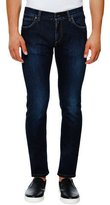 Dolce & Gabbana Medium-Wash Stretch-Denim Skinny Jeans, Dark Blue