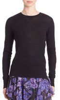 Jason Wu Lace-Inset Knit Pullover