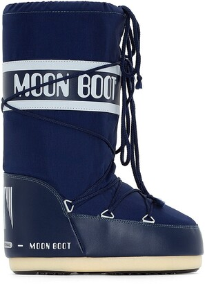 Moon Boot Nylon Moon Boots with Faux Fur Lining