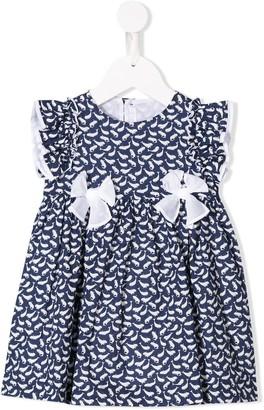 Il Gufo Whale Print Party Dress
