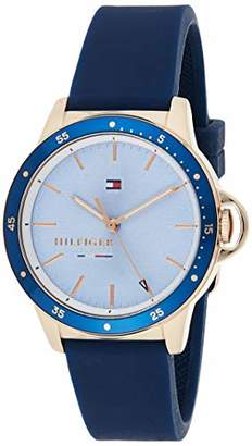 Tommy Hilfiger Women's Stainless Steel Quartz Watch with Silicone Strap
