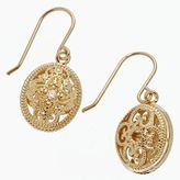 24k Gold-Over-Sterling Silver Scrollwork Drop Earrings