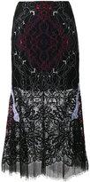 Jonathan Simkhai Lace Embroidered Sheer Skirt - women - Silk/Cotton/Nylon/Polyester - 0