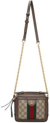 Gucci Brown Mini GG Ophidia Shoulder Bag