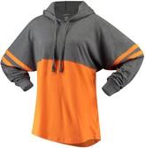 Unbranded Women's Orange Miami Hurricanes Pom Pom Jersey Oversized Long Sleeve Hoodie T-Shirt