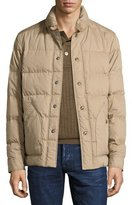 Tom Ford Snap-Front Quilted Puffer Jacket, Tan