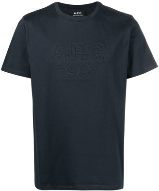 A.P.C. embossed logo T-shirt
