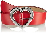 Moschino Women's Heart Buckle Belt
