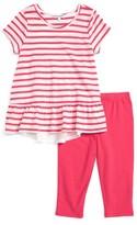 Splendid Girl's Stripe Tee & Leggings Set