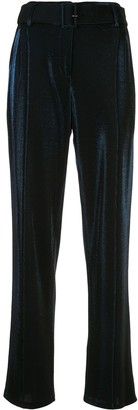Sally LaPointe pin-tuck belted trousers