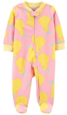 Carter's Baby Girls Pear Footie Sleep and Play One Piece