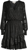 MICHAEL Michael Kors Checker Blouson Flounce Dress