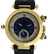 Cartier Pasha Alarm Moonphase 18K Yellow Gold 38mm Mens Watch