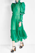 Natasha Zinko Silk Chiffon Dress with Ruffles