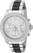 Invicta 20510 Women's Angel Crystal Accented Dial Steel & Acetate Bracelet Day Date Watch