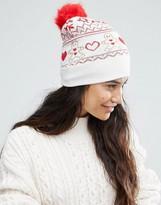 Boardwalk Boardmans Gingerbread Fairisle Knitted Beanie Hat