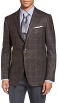 Pal Zileri Men's Classic Fit Plaid Wool Blend Sport Coat