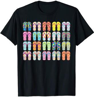 The Summer Sun & Fun Life Flip Flops Women Sandals Girls Summer Shoes Obsession T-Shirt