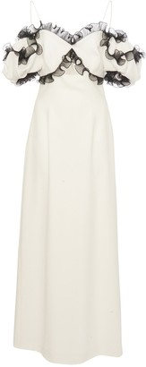 Givenchy Two Tone Dress in Twisty Flounces