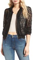 Ella Moss Pixie Sheer Lace Bomber Jacket