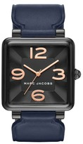 Marc Jacobs Women's Vic Leather Strap Watch, 34Mm