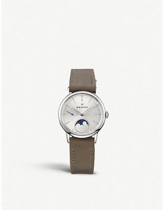 Zenith 03.2330.692/01.C714 Elite Lady Moonphase alligator-leather watch