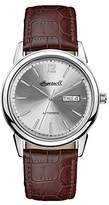 Ingersoll Men's The New Haven Automatic Watch with Silver Dial and Brown Leather Strap I00501