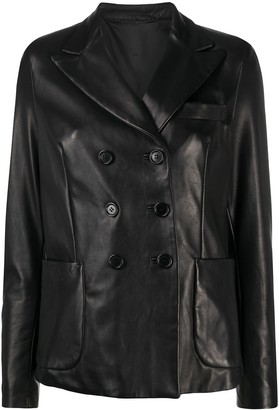 Salvatore Santoro Double-Breasted Leather Jacket