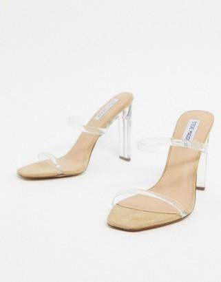 Steve Madden Andrina heel sandal in clear vinyl