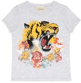 Gucci Girl's Tiger Graphic Tee