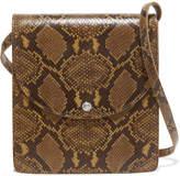 Elizabeth and James Eloise Snake-effect Leather Shoulder Bag - Brown