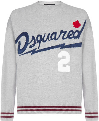 DSQUARED2 Logo Wool And Cotton Sweater