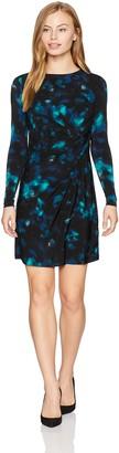 Ellen Tracy Women's Petite Size Twisted Waist Dress