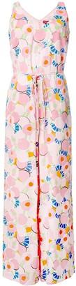 STAUD Abstract Peach Blossom jumpsuit