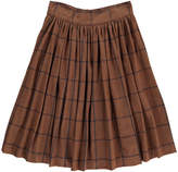 soeur Bis Bamboo Flannel Checked Skirt