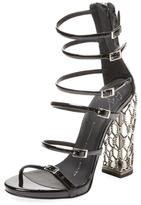 Giuseppe Zanotti Strappy Patent Leather Sandal