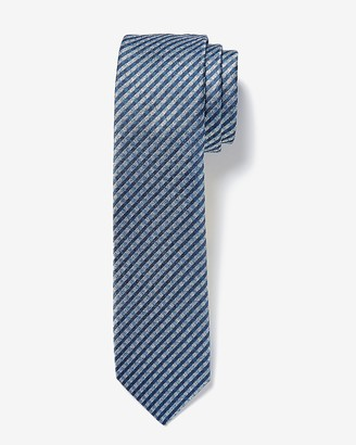 Express Narrow Check Print Tie