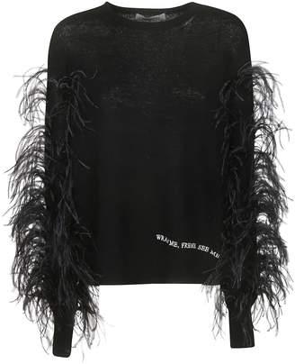 Valentino Fur Applique Sweater