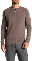 Autumn Cashmere Covered Placket Henley Cashmere Sweater