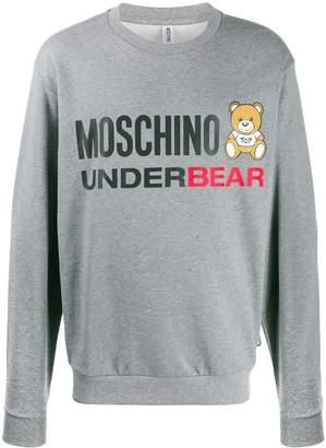 Moschino teddy logo printed sweatshirt