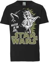 Logoshirt Yoda Print Tshirt Schwarz