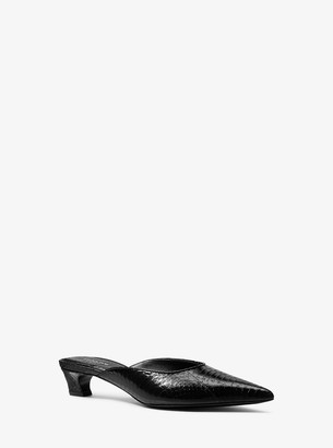 Michael Kors Collection Calista Snakeskin Mule